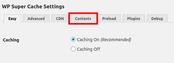 Cache your WordPress Content