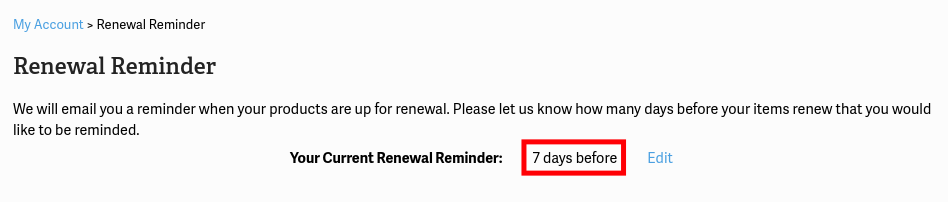 View Renewal reminders