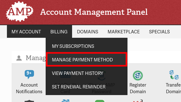 Manage Payment Method