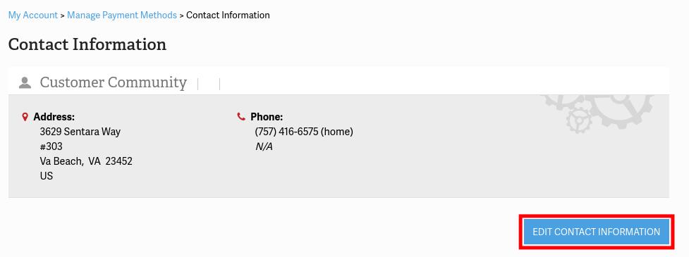Modify Contact Information