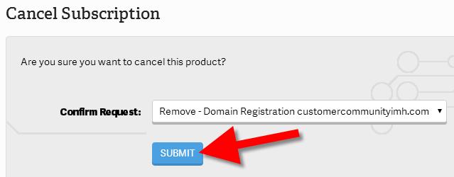 revamp cancelling domain registration