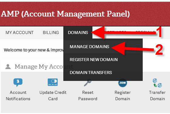 revamp manage domain