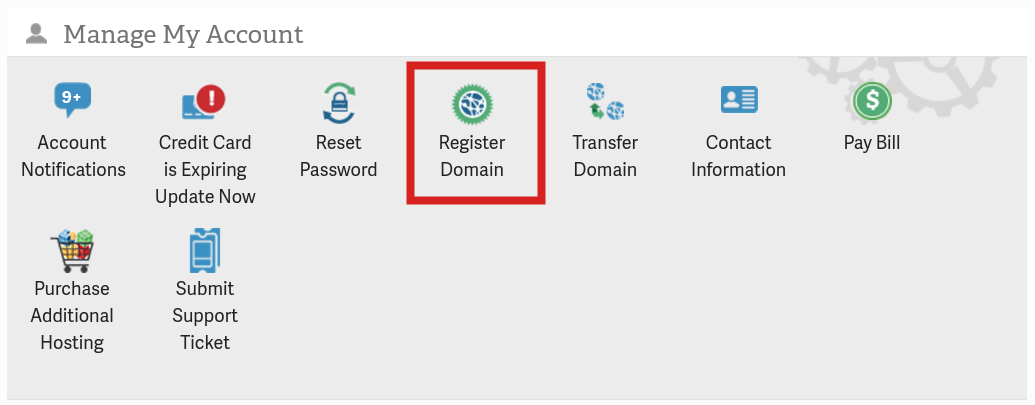 amp domain management register domain amp