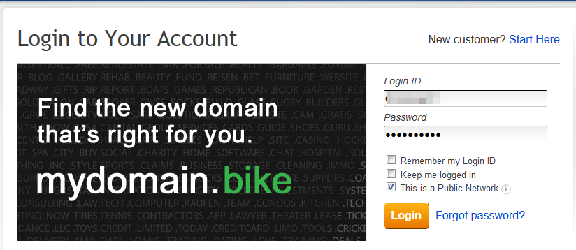 domains change nameservers enom 2 login