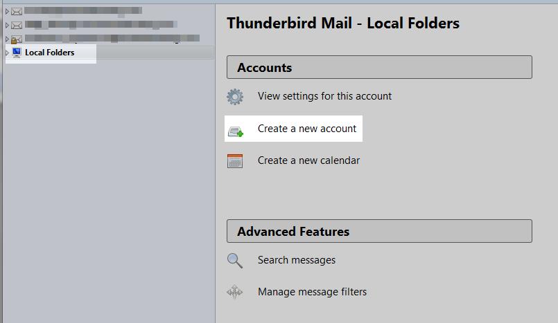click local folders
