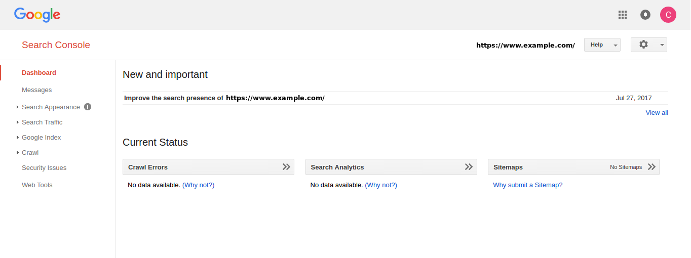 Introduction to Google Search Console   InMotion Hosting Support Center
