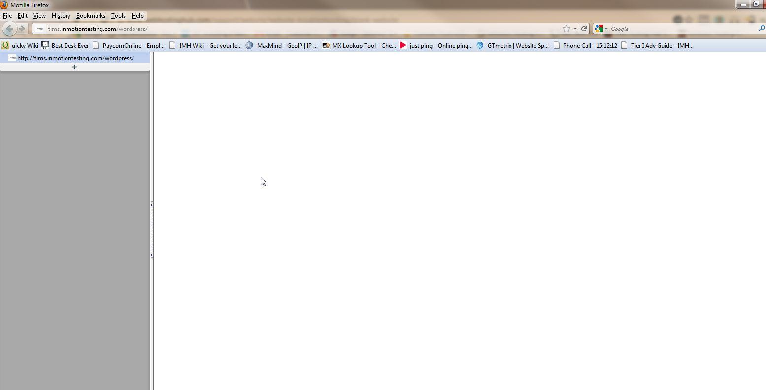 Blank screen with errors off WordPress
