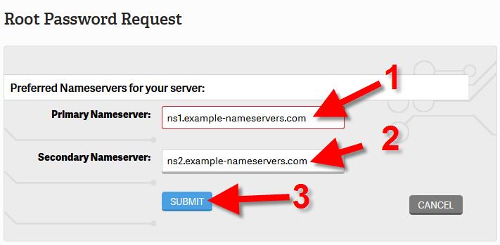 revamp root access nameservers