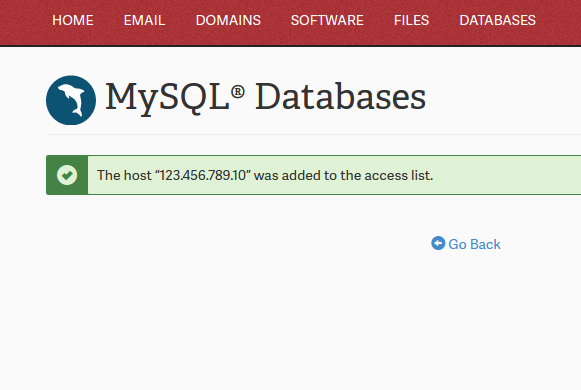 Setting up a Remote MySQL Database Connection | InMotion Hosting