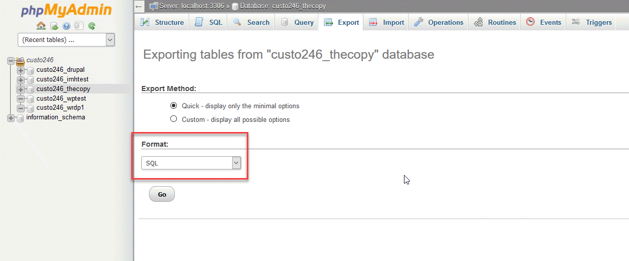 How to Export a Database using phpMyAdmin | InMotion Hosting Support