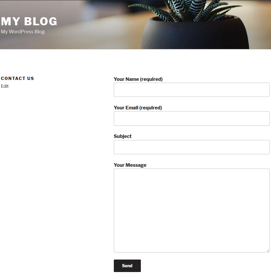 live contact form