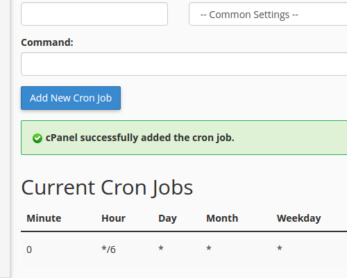 added cron job successfully