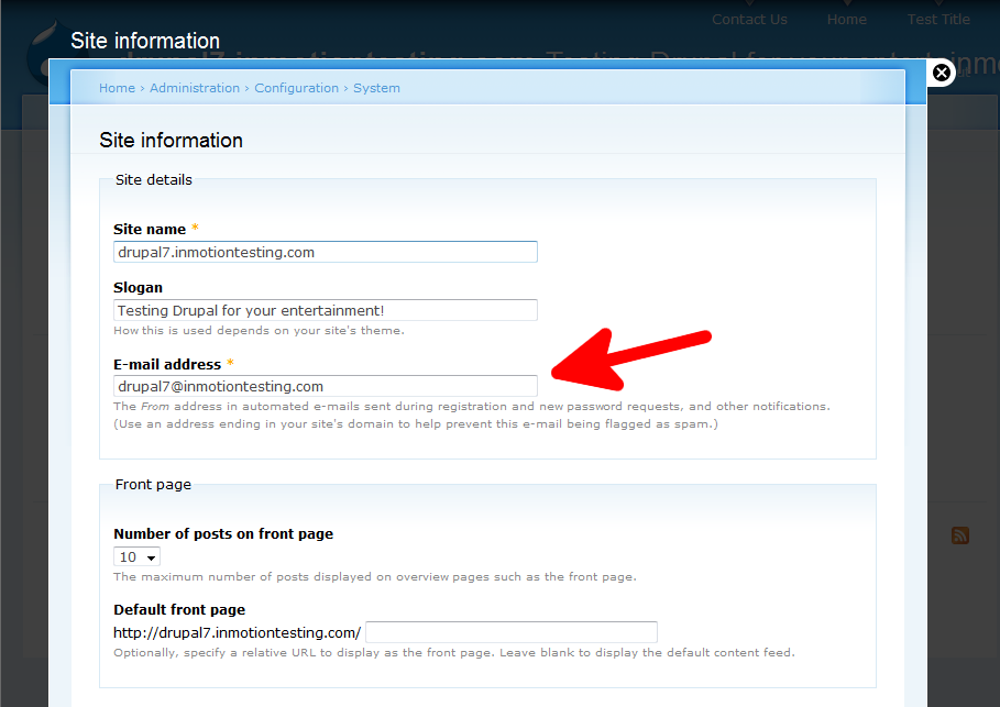 configuration-system-site-info-email