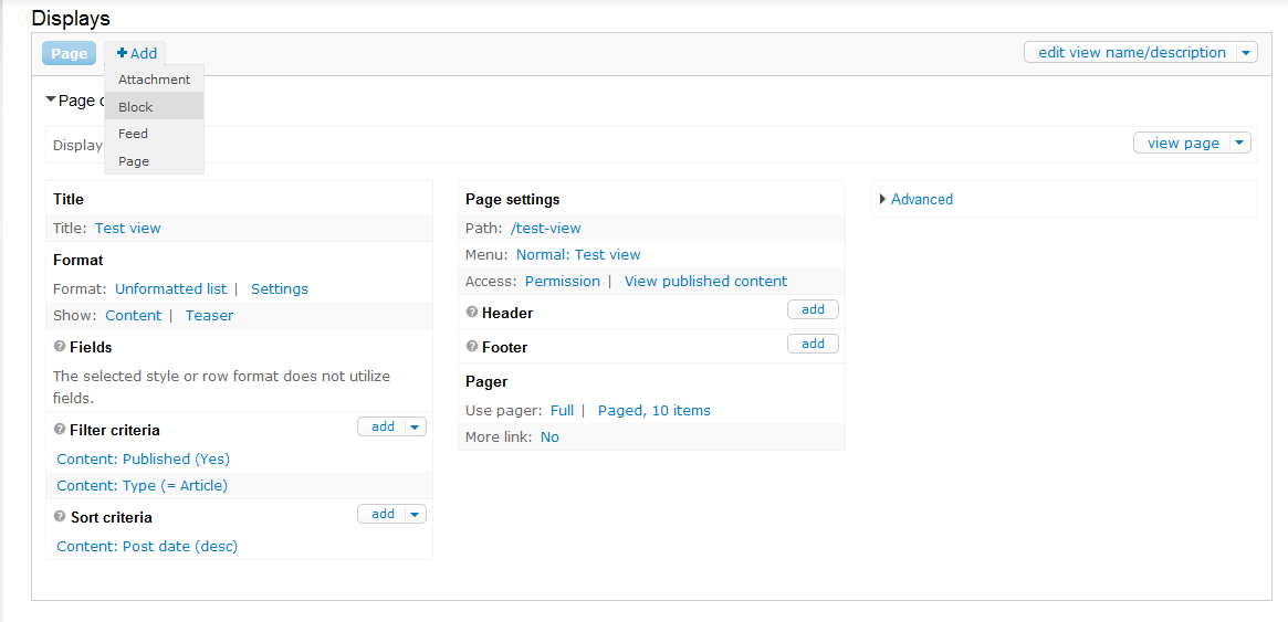 Creating a block display for a View in Drupal 7   InMotion
