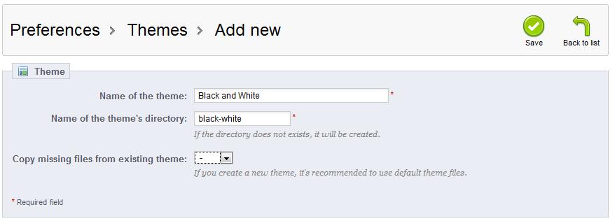 Configure New Theme Prestashop