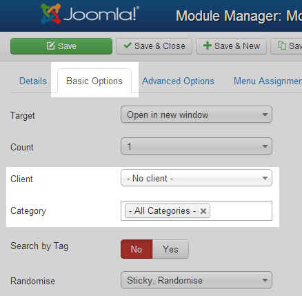 How to show a banner in Joomla 3 1 | InMotion Hosting