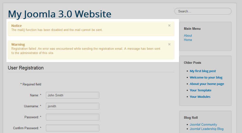 joomla-3-email-errors