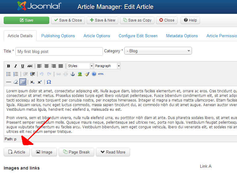 Learn How to Link to Another Article in Joomla 3