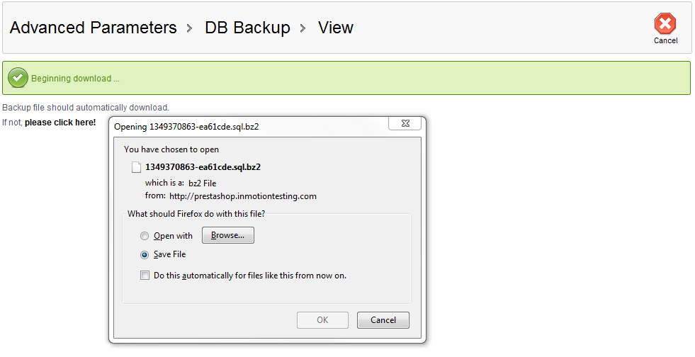 save-db-backup
