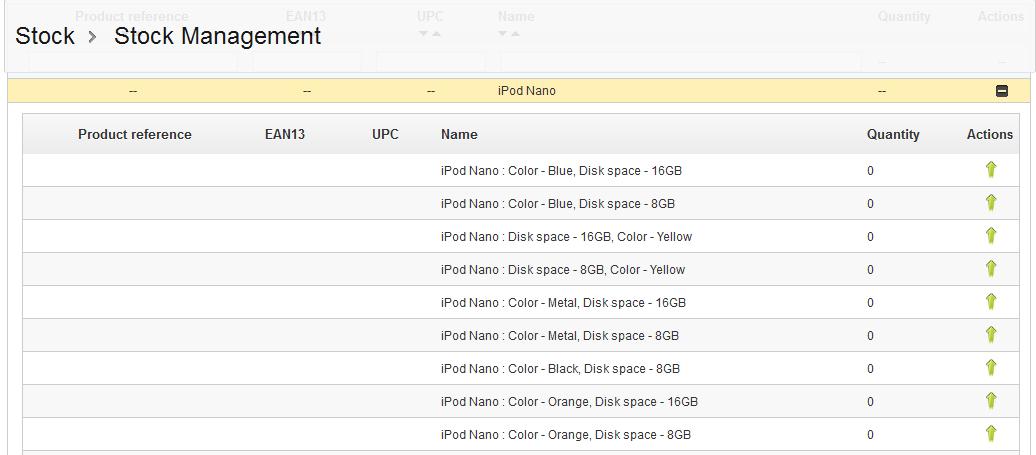 stock-list-combinations