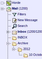 Horde-IMAP-auto-archive