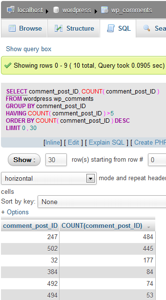 wp-comments-sql-comment-post-ID