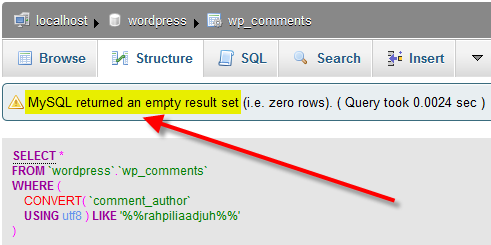 wp-comments-sql-results-search-delete-empty