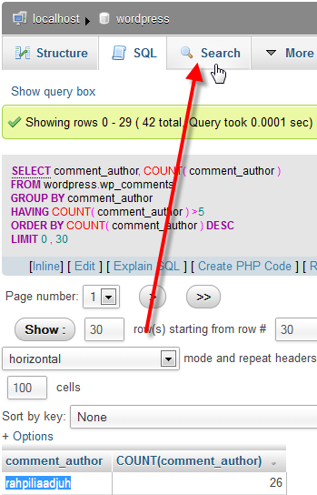 wp-comments-sql-results-search