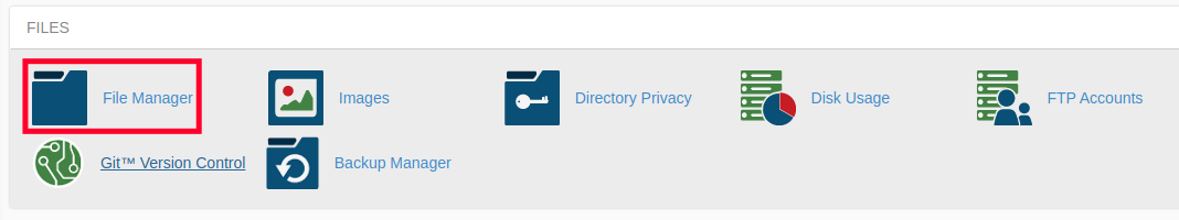 Access File Manager to Setup 301 Redirect in .htaccess