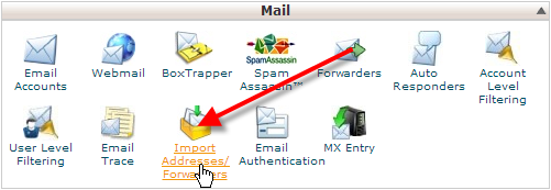 click-on-import-addresses-forwarders