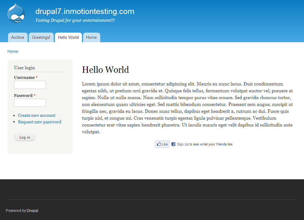 How to create a custom footer block in Drupal 7 | InMotion