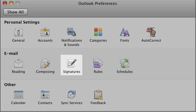 How to create a signature in outlook on mac