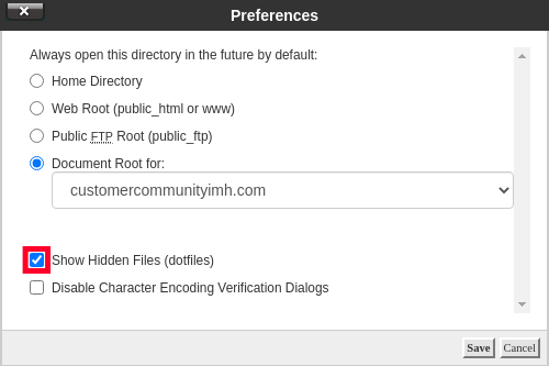 View Hidden Files to See .htaccess