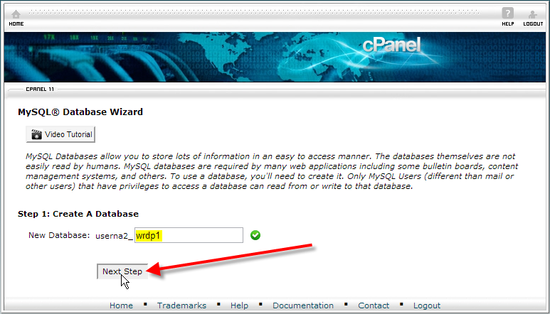 cpanel-create-a-database