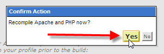 whm-click-recompile-apache-php-yes