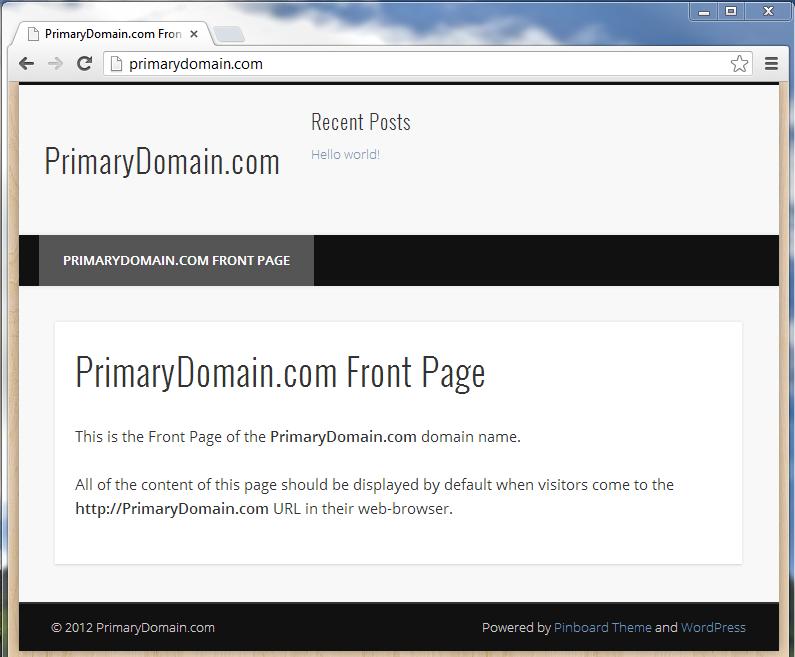 wordpress site restored successfully