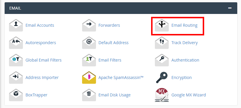 click email routing icon