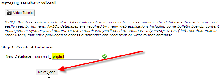 name-database-click-on-next-step
