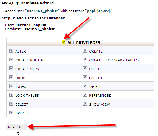 select-all-privileges-click-on-next-step