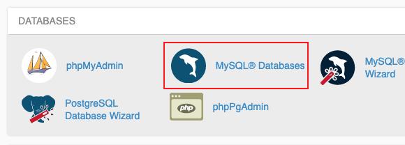 cm cpanel databases1