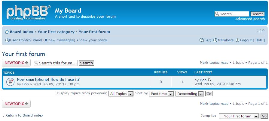 list of forum topics