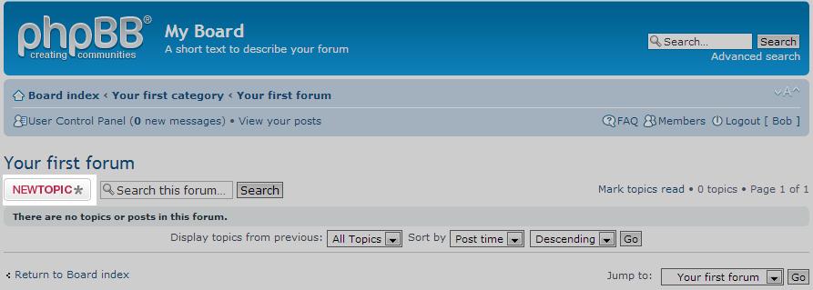 click new topic button