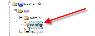 navigate to config directory in file manager