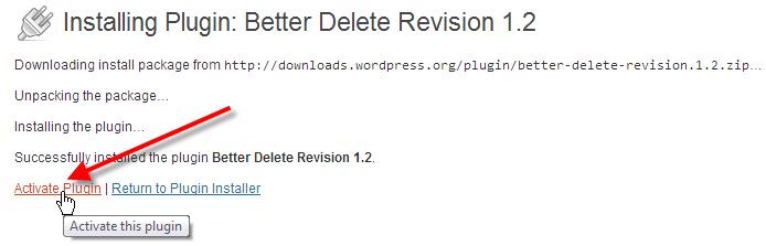 wordpress admin install plugins click activate plugin