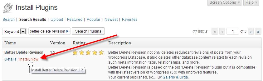 wordpress admin install plugins click install now