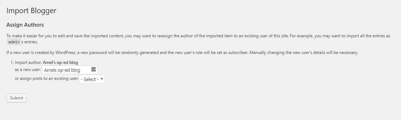 Grant access to Blogspot WordPress