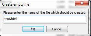 name new file in filezilla