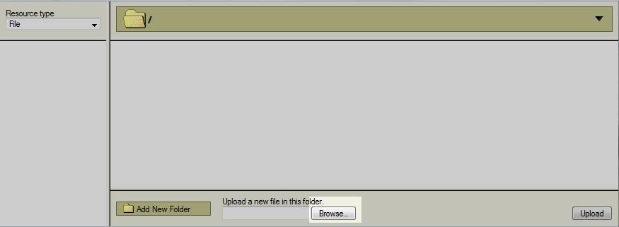 server upload screen
