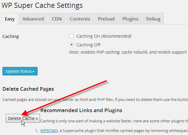 Clearing WordPress Cache | InMotion Hosting Support Center