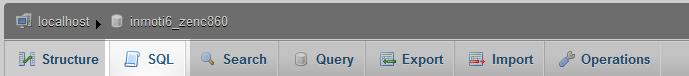 click on sql tab